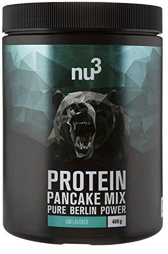 nu3 Protein Pancake Mix - 400g Low Carb Pfannkuchen Backmischung mit 55% Protein - 28g Eiweiß pro Portion - köstliche Alternative zu Proteinshakes - fluffige Pancakes ohne Konservierungsstoffe