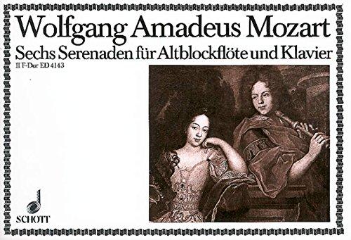 Sechs Serenaden: Nr. 2 F-Dur. KV 213. Alt-Blockflöte (Violine, Oboe, Flöte) und Klavier.