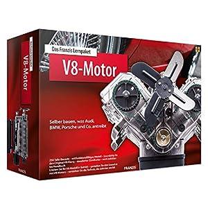 Das FRANZIS Lernpaket V8-Motor: Selber bauen, was Audi, BMW, Porsche und Co. antreibt | 250-Teile-Bausatz - voll funktionsfähiges Motormodell - reich bebildertes Handbuch