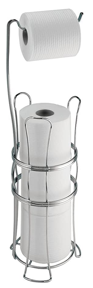 Superb MDesign Toilettenpapierhalter Ohne Bohren   Freistehender Klorollenhalter  Fürs Badezimmer   Farbe: Chrom   Mobiler Papierrollenhalter Für Ihr  Badezimmer: ...
