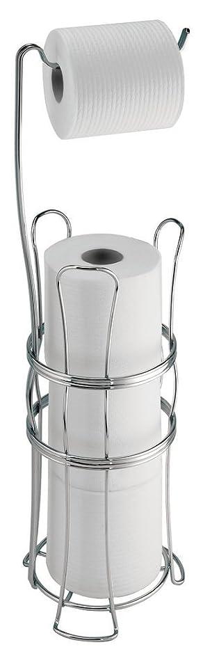 mdesign toilettenpapierhalter ohne bohren freistehender klorollenhalter frs badezimmer farbe chrom mobiler papierrollenhalter fr ihr badezimmer - Freistehender Toilettenpapierhalter Chrom