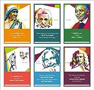 Vantagekart Mother Teresa, Albert Einstein, Nelson Mandela, Mahatma Gandhi, Dr.Abdul Kalam, Isaac Newton Inspi