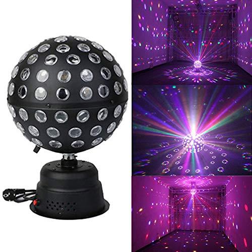 h Kugel RGB LED Bühne Licht Bühnenbeleuchtung Scheinwerfer Bühnenlampen Stimmungsleuchte 360 ° Automatische Drehung 110 Helle Löcher Neun Farben Schön Vielzahl Von Anlässen ()