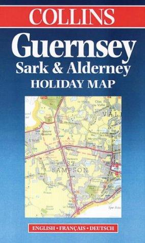 Carte touristique : Guernesey Sark Alderney (en anglais)