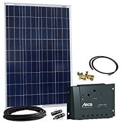Offgridtec Solar Bausatz 100 wp - 12 V Solaranlage, Solarmodul und Steca Solarladeregler 8A / Bild: Amazon.de