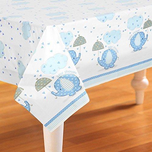 Blauer Elefant Schirm Plastik-Tischdecke (54inx84in)