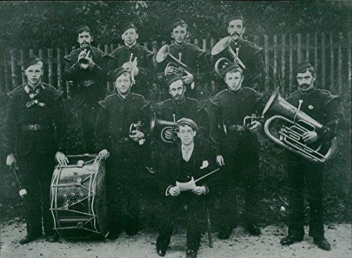 Vintage photo of Ashill village band - Village Band