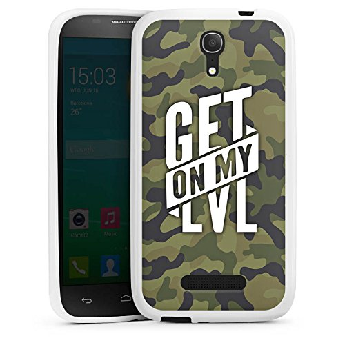 DeinDesign Alcatel One Touch Pop S7 Hülle Silikon Case Schutz Cover Montanablack Fanartikel Merchandise Get On My Level Camo - Camo Touch Alcatel One