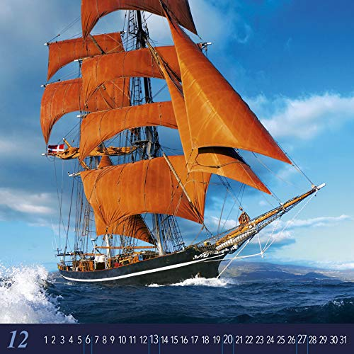 Windjammer 2020 - Schiffe - Ships - Bildkalender (42 x 42) - Oldtimer - Meer - Großsegler - Wandkalender
