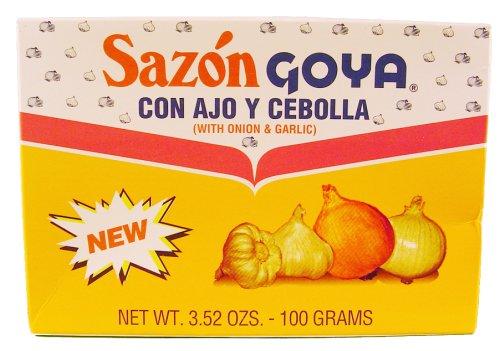 Sazon Goya Con Ajo Y Cebolla With Garlic And Onion 100g Box