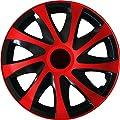 Radkappen Radblenden Radzierblenden Draco Rot 13 Zoll 13? R13 universal passend für fast alle Fahrzeuge mit Standardstahlfelgen z.B. Kia