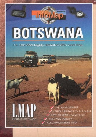 Botswana: Highly Detailed GPS Road Map