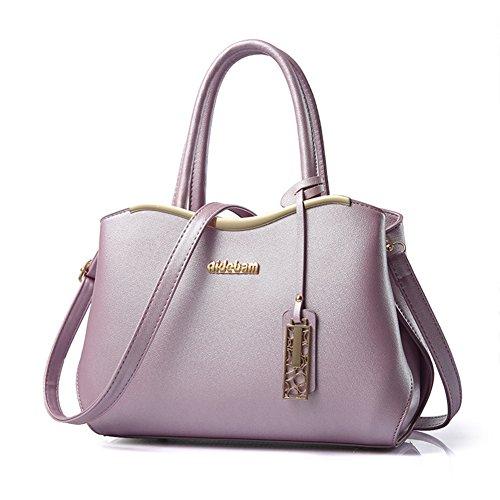 fanhappygo Fashion Retro Leder Damen Schulterbeutel Umhängetaschen Tote Taschen Abendtaschen lila