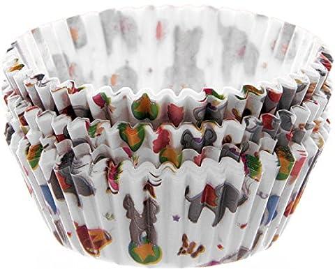 1 Pkg = 72 Stück CUPCAKE-FÖRMCHEN ~~ZIRKUS / BIG TRUNK CIRCUS~~