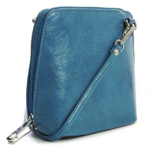 Big Handbag Shop - Borsa a tracolla donna Blu (Foglia di tè)