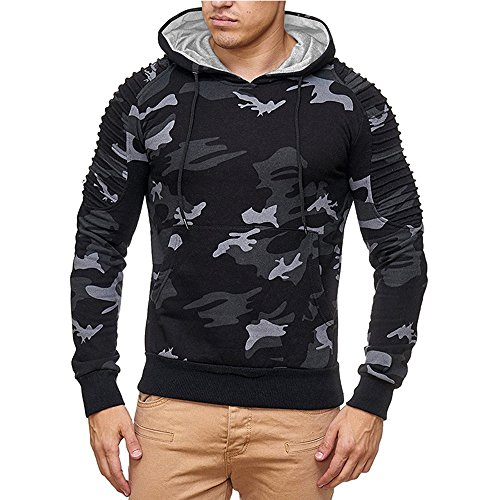 Carol -1 Herren Kapuzenpullover Sweatshirt Langarmshirt Sweatjacke Motiv Pullover Prints Camouflage Pulli J.Style