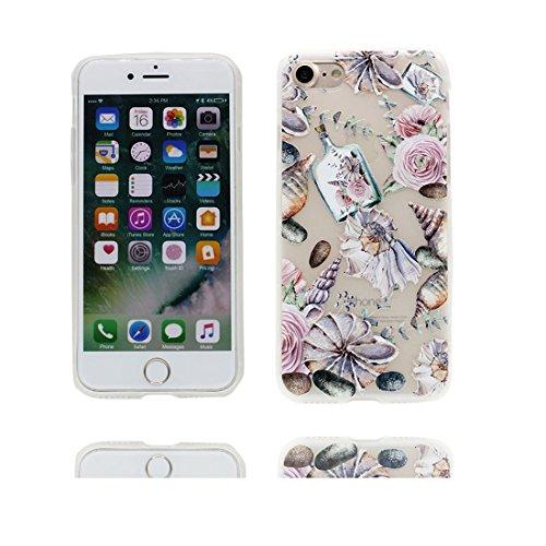 Custodia iPhone 7 Plus, Silicone trasparente Cartoon Stile del modello Case materiale di alta qualità & morbido & & Ultra sottile iPhone 7 Plus copertura 5.5 Graffi Prova / conghiglia fiore Bottle conghiglia fiore Bottle