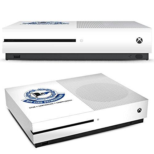 DeinDesign Microsoft Xbox One S Folie Skin Sticker aus Vinyl-Folie Aufkleber Arminia Bielefeld Fanartikel Football