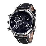 Best Relojes Boy desconocidos - V6® Correa de caucho de silicona hombres vestido Review