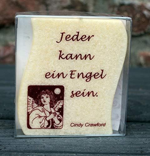 """Kerze """"Jeder kann ein Engel sein"""""""