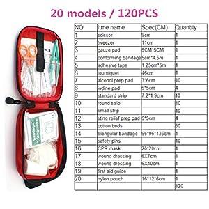 Lan 120 Teile/Satz 20 Arten Erste Hilfe Set Notfalltasche Home Car Outdoor Medical Set