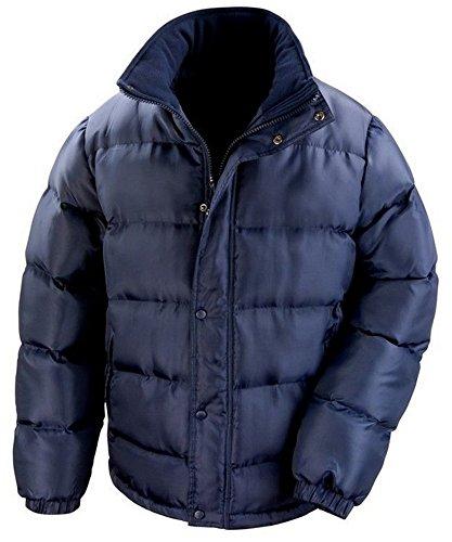 Herren Ergebnis Core Nova Lux langärmelige Gepolsterte Jacke Winter Mantel Blau - Navy