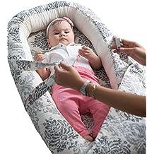 Cozy Baby Nest / Nido del bebé / Diminution de cama para bebé reversibile - Mejor oferta al mejor precio - No más preocupaciones de que tu bebé podría caer cuando duerma - Algodón orgánico + Hipoalergénico - Disponible en 2 tamaños (Small, Marron)