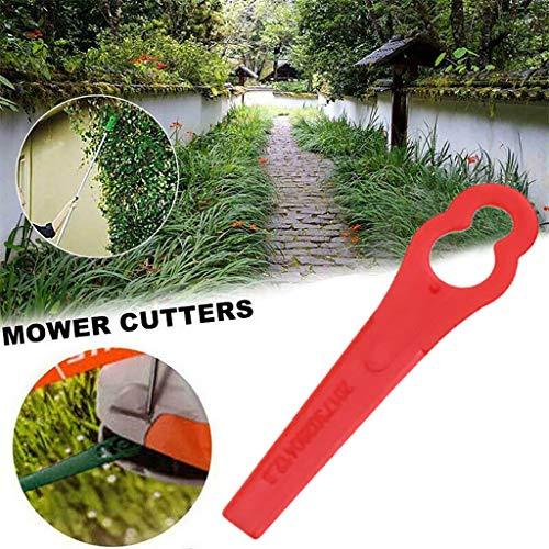 Hukz 40 Stück Kunststoffmesser Mower Cutters für Akku-Rasentrimmer, Dauerhaft Kunststoffmesser Ersatzmesser Set Rasentrimmer Zubehör -