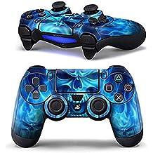 DOTBUY PS4 Controlador Diseñador Piel para Sony PlayStation 4 mando inalámbrico DualShock x 1 (Blue Fire