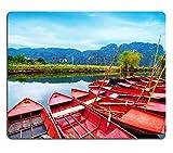 Mousepads Amazing Morning View mit Vietnamesisch Boote At River Tam Pille Ninh Boss Vietnam Travel Landschaft Bild-ID 33712469von Liili Individuelle Mousepads fleckenresistenz Collector Kit Küche Tisch Top Schreibtisch Drink Individuelle fleckenresistenz Collector Kit Küche Tisch Top Schreibtisch