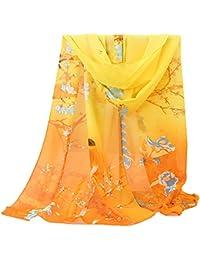 MRULIC Echarpes foulards femme Écharpe Foulard Châle pour Femme Automne  Hiver Chaud en Coton à Carreaux fcbbdc32942a