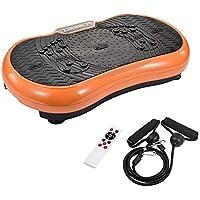 Preisvergleich für TIMMY Vibrationsplatte Vibrationsplattform Body Shaper Oszillationsplatte Vibrationstrainer Massage Fitnessgerät, 99 Stufen mit LCD-Display Fernbedienung Bluetooth-Lautsprecher, 150kg Tragkraft,Orange
