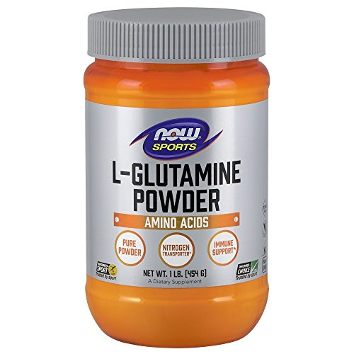 Now Foods Sports I L-Glutamin Powder I Nitrogen-Transport I Immun Support I Vegetarisch I Vegan I Pulver 454g