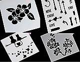 4 Stencil Icing Back-Schablone Filigran Blumen Pfeile Liebe Air Brush Kuchen Torte Deko Fondant Keks STS2+3+4+5