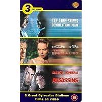Stallone - Demolition Man, Specialist, Assassins - Video Triple Pack