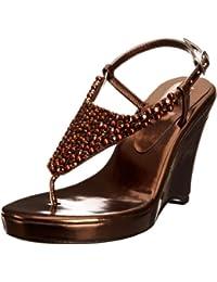 Unze Evening Sandals, Sandali con la zeppa donna
