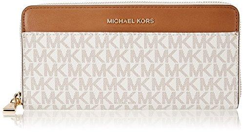 Michael Kors Damen Mercer Logo Continental Wallet Geldbörse, Elfenbein (Vanilla), 2.54x10.16x20.32 cm
