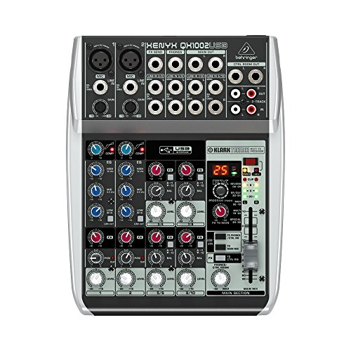 Behringer QX1002USB - Mixer a 10 Ingressi Con Interfaccia Audio + Processore Effetti Per Studio, Karaoke, Live, Ecc.