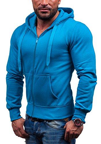 STEGOL-Hombre-Sudadera-con-capucha-con-cierre-de-cremallera-AK50-Azul-claro-XXL-1A1