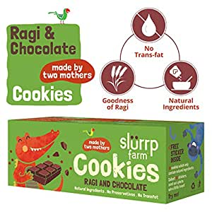 Slurrp Farm Cookies, Wholewheat, Ragi and Chocolate, 75g