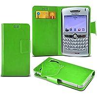 (Green) Blackberry 8830 World Edition Mega sottile Protezione in ecopelle