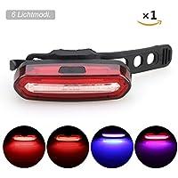 GreenClick LED Fahrradlicht Rücklicht Fahrrad 2*0.5w ultralhell rot LEDs,fahrradlampe Batteriebetrieb mit 2 AAA Batterien,PX4 wasserdicht LED Rückleuchten tragbar LED Fahrradlampe für sicher Fahrradfaren in der Nacht