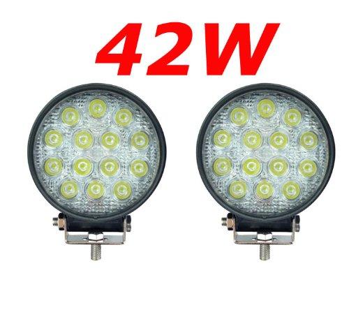 Miracle 42W 14Miracle-Reflector led luz de trabajo SUV, UTV, ATV, faro adicional para todoterreno, 12-24V, negro