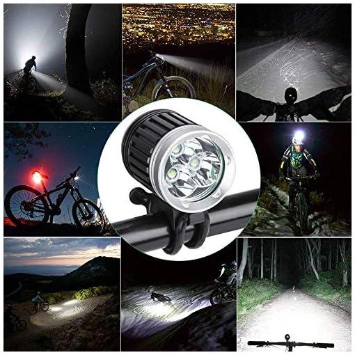 GHB Faro per Bici Faro MTB 3X CREE XM-L T6 3600LM 4 Modalità Ricaricabile