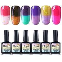 Ukiyo Colour Changing Gel Nail Polish Set 6pcs Gel Polish Starter Kit Manicure Varnish