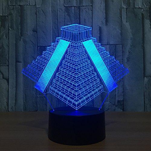 Pyramid Light 7 Colors Changing Lamp Usb Bedside Sleep Table Night Light Bedroom Decor Gifts 3D Light Led Night Light -