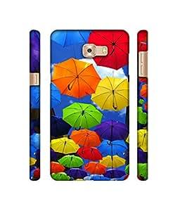 Casotec Colorful Umbrellas Design 3D Printed Hard Back Case Cover for Samsung Galaxy C5 Pro