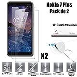 Nokia 7 Plus Vitre Protection d'ecran en Verre trempé [Scott-FR] incassable Tempered...