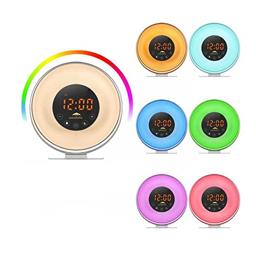 Woolala Sunrise Wake Up Clock Digital Alarm Clock