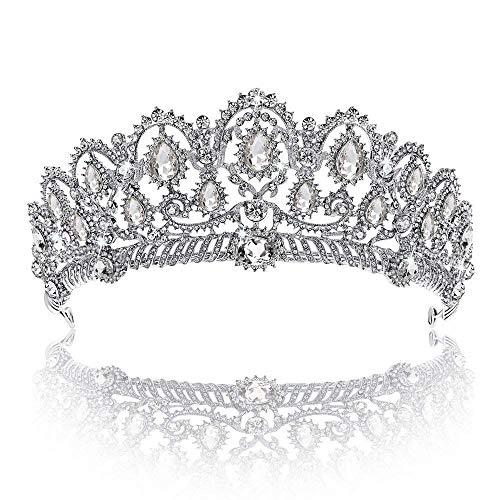 Krone, Diadem, Ballkönigin, Krone, Quinceanera, Festzug, Krone, Prinzessinnenkrone, Strass-Kristall, Braut, Kronen, Tiaras für Frauen